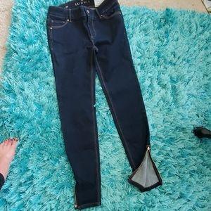 nwt women's 00 whbm the skimmer zipper ankle jean